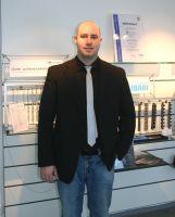 Daniel Russ an seinem neuen Arbeitsplatz
