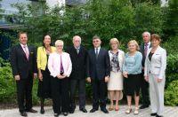 Gruppenfoto der polnischen Delegation mit den Vertretern der Deutschen Rentenversicherung Bund und des BFW München