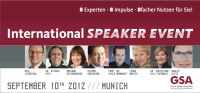 Die 8 Experten des First International Speaker Event in München