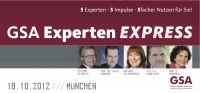 GSA Experten Express mit Gaby S. Graupner, Stephan Heinrich, Niels Brabandt Vortragsabend der Spitzenklasse!