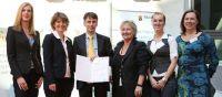 entra-Team mit Wirtschaftsministerin Eveline Lemke und  Familienministerin Irene Alt