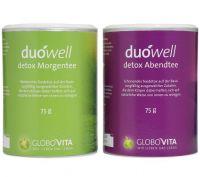 duówell detox Morgen- und Abendtee – Das innovative Tee-Duo zum Entschlacken, Entsäuern und Gewichtreduzieren