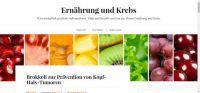 Jetzt neu: Blog zum Thema Ernährung und Krebs
