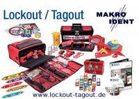 Lockout-Tagout Verriegelungen mit Warn- und Sicherheitshinweisen