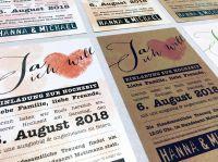 Papier: Stoff, aus dem Hochzeitspapeterie-Träume sind – neue Kollektion im Showroom für Hochzeitskarten
