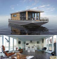 Exklusives Wohnen und Leben auf dem Wasser: Seetaugliche Premium-Hausboote von CRUISING HOME