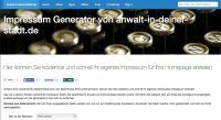 Impressum für Ihre Webseite – Impressum Generator von anwalt-in-deiner-stadt.de