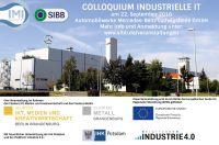 Colloquium Industrielle IT am 22. 9. 2016 zur Digitalisierung des Brandenburger Mittelstandes in Ludwigsfelde
