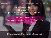 WordPress Hosting Kostenlos oder .DE Domain für 2,90EUR pro Jahr