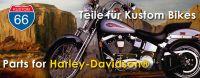 Aktuelles Zubehör für die PS-starke Fahrdynamik: Kustom Teile für Harley-Davidson® Bikes online bestellen