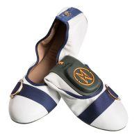 Faltbare Ballerinas-to-go für größere Füße