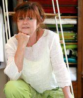 """Textildesign Susanne Hinz: """"Leinen"""" ist das Thema am Atelier-Samstag im Juni"""