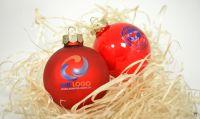 Bedruckte Weihnachtskugeln mit Logo – das perfekte Werbegeschenk!