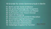 Das ApartHotel präsentiert: 10 gute Gründe für einen Sommerurlaub in Berlin