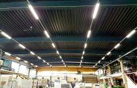 Taghell in Fertigungshalle mit 60 neuen LED-Leuchten statt 324 Leuchtstoffröhren