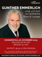 Gunther Emmerlich singt und liest im GERMENS Store & Lounge Chemnitz/Rabenstein