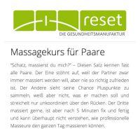 Massagekurs für Partnermassage in Stuttgart