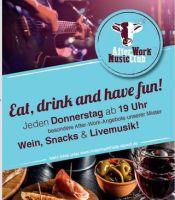 Unser AFTER-WORK-CLUB mit Live Musik, Wein und Snacks ist eröffnet!