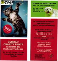 ZUMBA® Fitness Charity Party zugunsten des Dachauer Tierheims