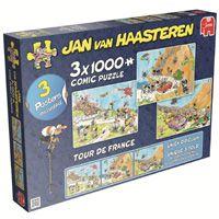 Humorvoller Etappensieg bei Tour de France 3in1: Jan van Haasteren Puzzle von Jumbo