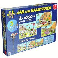 Kultpuzzles mit Schmunzel-Effekt: Neuheit Jan van Haasteren Tour de France 3in1 Puzzle von Jumbo