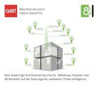 8ack auf der CeBIT: High End Internet Security für Webshops und KMUs