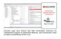 Acunetix präsentiert Version 10 des Vulnerability Scanners auf der it-sa