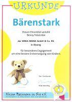 """Bärenstarke Trostaktion: WEKA MEDIA unterstützt """"Kleine Patienten in Not"""""""