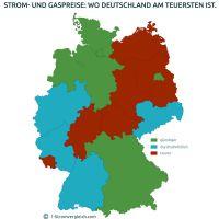 Gas- und Strompreise: Wo Deutschland am teuersten ist und wohin sich der Umzug lohnt.