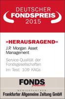 J.P. Morgan Asset Management zum neunten Mal in Folge für herausragenden Service ausgezeichnet