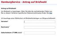 Mit cit intelliForm Briefwahlunterlagen online anfordern