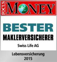 """Swiss Life als """"Bester Maklerversicherer"""" ausgezeichnet."""