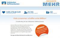 """""""Viele schaffen mehr"""": Crowdfunding-Plattformen der Volksbanken Raiffeisenbanken sammeln eine Million Euro"""