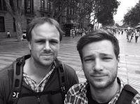 Bruno Fritzsche (rechts) und Max Plettau in Mailand, dem letzten Stopp der Südeuropa-Reise.