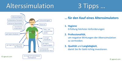 Tipps von Dr. Gundolf Meyer-Hentschel, dem Erfinder des Alterssimulationsanzugs
