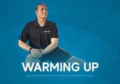 Joey Kelly animiert die Hofmann-Mitarbeiter im FitCoach, die eigene Gesundheit und Fitness zu stärken.