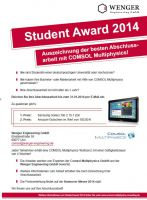 Auszeichnung der besten Abschlussarbeit mit COMSOL Multiphysics