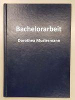 Bachelorarbeit in Hardcoverbindung mit Coverdruck