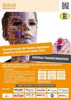 """Auszeichnung beste Abschlussarbeit """"Digitale Transformation"""" für Student einer Hochschule aus Baden-Württemberg"""