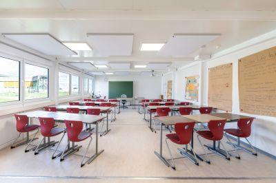 Helle, freundliche Klassenräume mit angenehmer Akustik machen ELA zu einem gefragten Anbieter von Schulcontainern