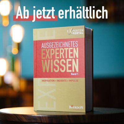 """Buchcover """"Ausgezeichnetes Expertenwissen"""" / Band 1 (© Bourdon Verlag)"""