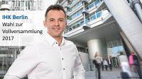 Zur Wahl der IHK-Vollversammlung im Mai 2017 tritt auch der Berliner Unternehmer Daniel Schäfer vom Institut X-GROUP an.