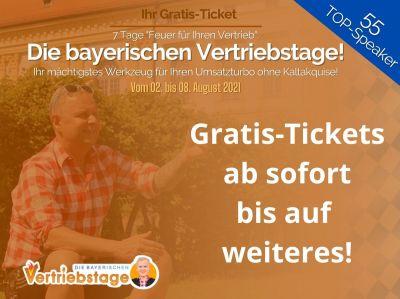 Die bayerischen Vertriebstage Gratis-Tickets