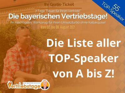 Die bayerischen Vertriebstage Speaker von A bis Z