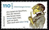 Sonderbriefmarke Lebenslanges Lernen, Deutsche Post AG, 9. August 2001