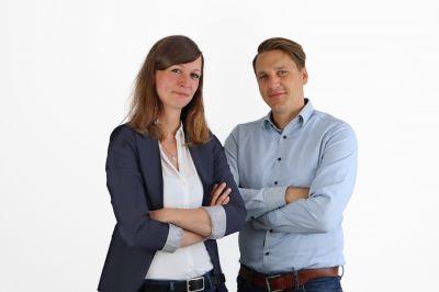 Caroline Muffert und Dr. Tim Eichler sind Gründer und Geschäftsführer des Bildungs-Start-ups Schreibmentoren aus Dülmen.