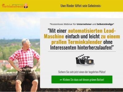 Uwe Rieder Der bayerische Vertriebsfreak Webinar Leadmaschine