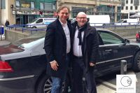 Thorsten Schäfer (Kosmetikschule Schäfer) und Torsten Maier (Wissen schafft Werte)  beim Meeting in Frankfurt