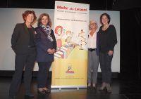 v.l. Andrea Pohlmann-Jochheim (MENTOR), Claudia Vollmar (Schulamtsdirektorin), Huguette Morin-Hauser (MENTOR), Birgit Süß