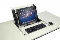 GMG-Screenbox-Computertisch zum Ausklappen des Bildschirms aus dem PC-Tisch
